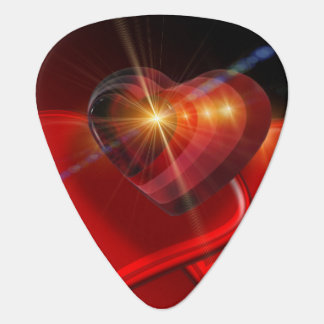 Trio of Red Valentine Hearts Guitar Pick