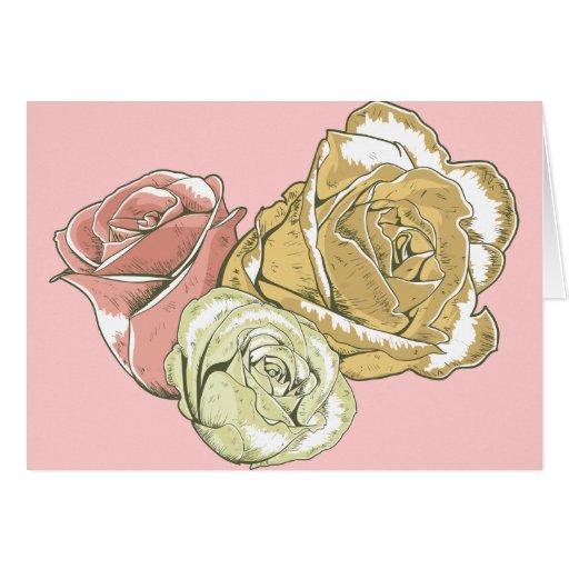 Trio of Roses Cards