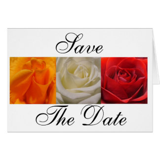 Trio of Roses- Save, The Date Card