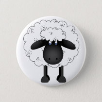 Trio Of Sheep Button