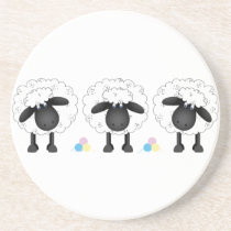 Trio Of Sheep Drink Coaster