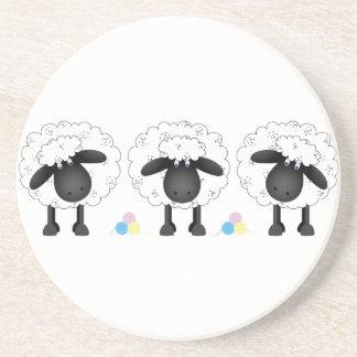 Trio Of Sheep Drink Coaster