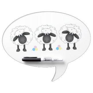 Trio Of Sheep Dry Erase Board