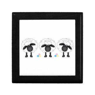 Trio Of Sheep Jewelry Box