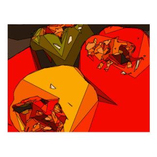 Trío picante del paprika postal
