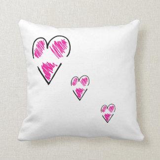 Trío rasgado de la almohada de tiro <3 cojín decorativo