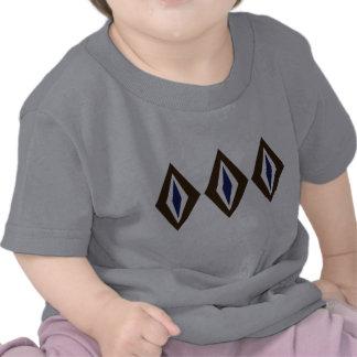 Trío retro del diamante de Brown y del cobalto Camisetas