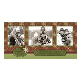 Trío tradicional de la tarjeta de la foto del navi tarjeta fotográfica personalizada