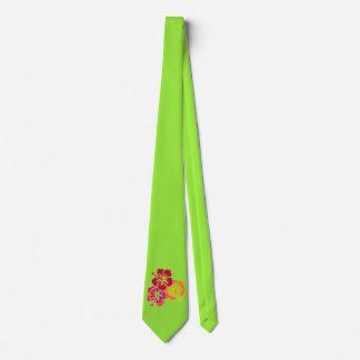 Trío tropical bonito del hibisco + su fondo corbata personalizada
