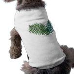 Trío tropical del helecho camisa de perro
