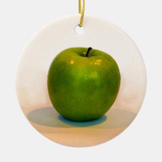 Trío verde de Apple Adorno Navideño Redondo De Cerámica