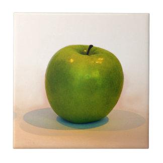 Trío verde de Apple Azulejo Cuadrado Pequeño