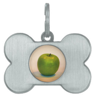 Trío verde de Apple Placa De Nombre De Mascota