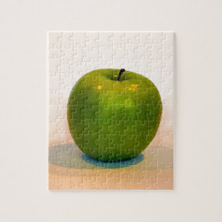 Trío verde de Apple Puzzle