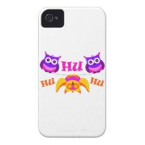 Triolium - owl party iPhone 4 Case-Mate case