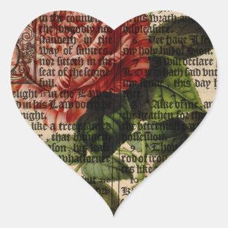 Triomphe de Valenciennes Flower Heart Sticker