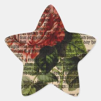 Triomphe de Valenciennes Flower Star Sticker