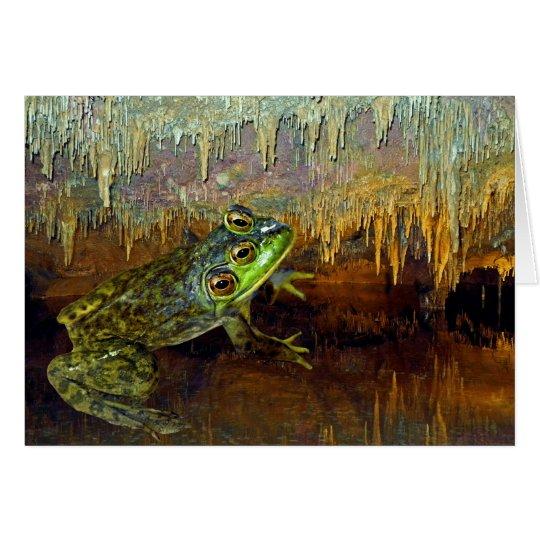 Triopse Fantasy Frog in a Cave Card