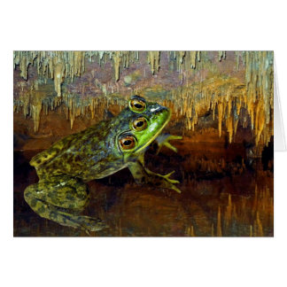Triopse Fantasy Three-Eyed Frog in a Cave Pool Card