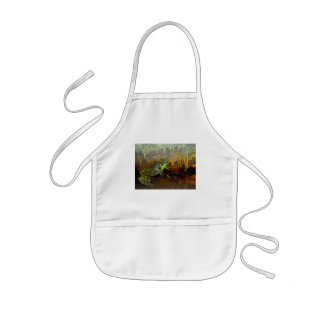 Triopse Fantasy Three-Eyed Frog in a Cave Pool Kids' Apron