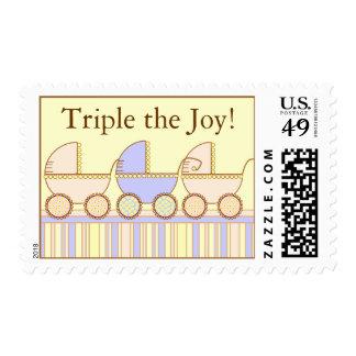 Tríos 2 chicas un 1 franqueo del muchacho sello postal