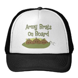 Tríos de los palos de golf del ejército a bordo (a gorras