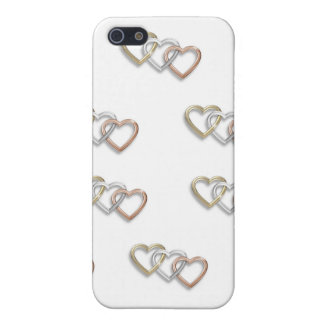 Tríos del caso de Iphone 4 de los corazones del or iPhone 5 Carcasas