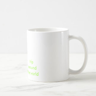 trip around the world globe mug