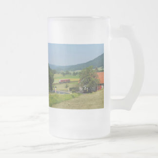 Trip by the upper Lahn valley with nuclear brook Frosted Glass Beer Mug