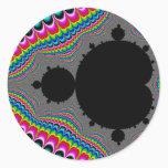 Trip - Fractal Classic Round Sticker