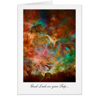 Trip Good Luck - Carina Nebula Star Journey Card