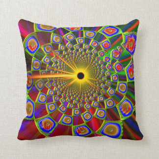 Trip In Psychedelic 3D Optics Throw Pillow