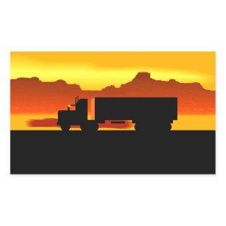 Trip OTR Trucker Trucking semi tractor trailer Rectangular Sticker