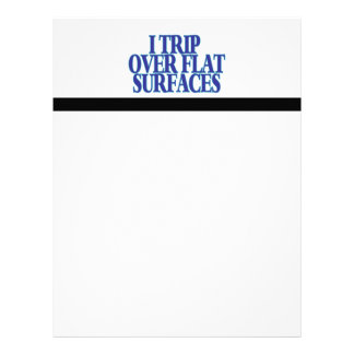Trip Over Flat Surfaces Letterhead Design
