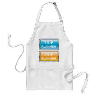 Trip Planner Button Glossy vector Adult Apron