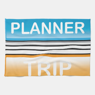 Trip Planner Button Glossy vector Towels