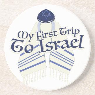 Trip To Israel Sandstone Coaster