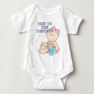 Trip to the Dentist Baby Girl Design Baby Bodysuit