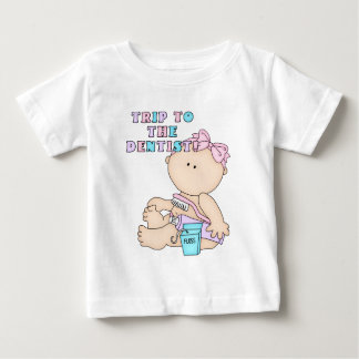Trip to the Dentist Baby Girl Design Baby T-Shirt