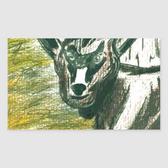 Trip to the Zoo - Baby Goat Rectangular Sticker