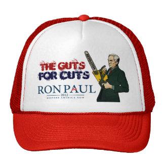 Tripa de Ron Paul para el gorra de los cortes