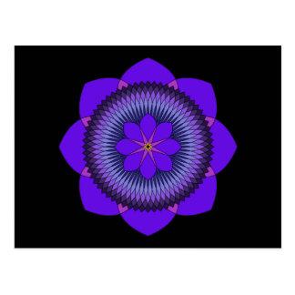 Tripartite 80 Petal Purple Lotus Postcard