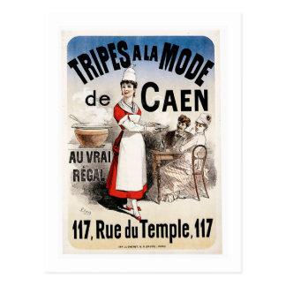Tripes La Mode De Caen Vintage Food Ad Art Post Card