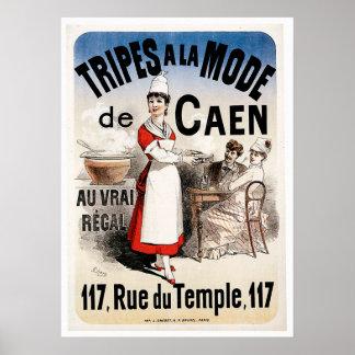 Tripes La Mode De Caen Vintage Food Ad Art Posters
