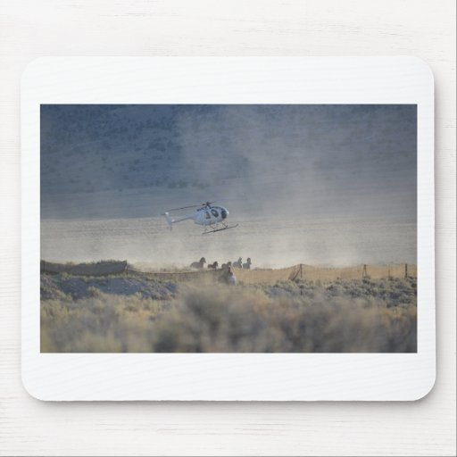 Triple B round up by Helicopter August 2011 Mouse Pad