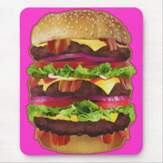 Triple Bacon Cheeseburger Mousepad