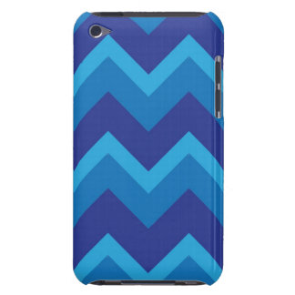 Triple Blue Chevron Case for iPod Touch