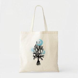 Triple Blue Moon Tree Tote Bag