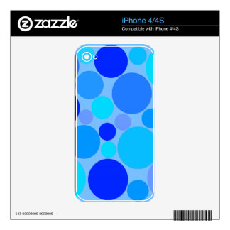 Triple Blue Polkadots Decals For The iPhone 4S