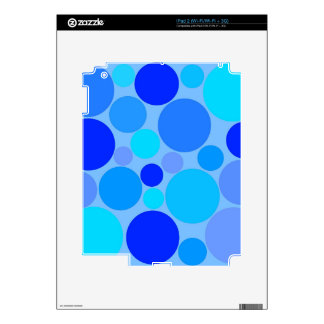 Triple Blue Polkadots iPad 2 Skins